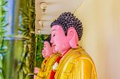 George Town Malaysia. March 8 2019. Buddhas On Display At Kek Lok Si Temple In George Town Malaysia poster