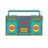 Retro Tape Player . Music Technology .retro Audio Vector . poster