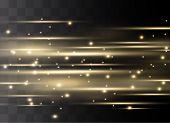 Yellow Horizontal Lens Flares Pack. Laser Beams, Horizontal Light Rays.beautiful Light Flares. Glowi poster