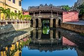 Hoi An Town - View Of The Japanese Bridge In Hoi An. Vietnam, Unesco World Heritage Site. Hoi An Is  poster