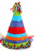 picture of pinata  - Colorful Pinata Isolated On A White Background - JPG
