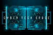Hud Cyber Tech Space. Futuristic Hud Background poster