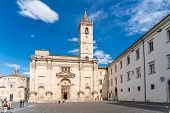 The Cathedral Of St. Emidio And The Baptistery Of San Giovanni In Arringo Square Of Ascoli Piceno, I poster