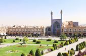 Imam Mosque and Naqsh-e Jahan Square (Shah Square, Imam Square), second biggest place of the world,  poster