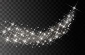 Glitter Particles Effect. Gold Glittering Space Star Dust Trail Sparkling Particles On Transparent B poster
