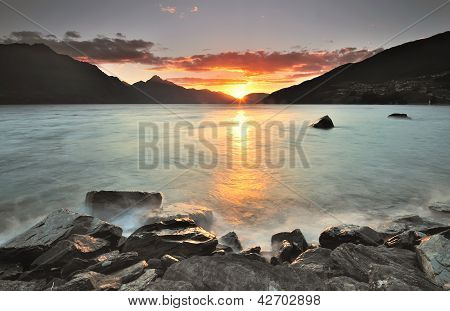Sunset at Queenstown, New Zealand