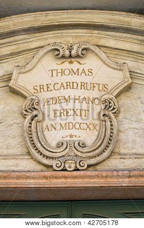 Bishop Palace. Ferrara. Emilia-Romagna. Italy.