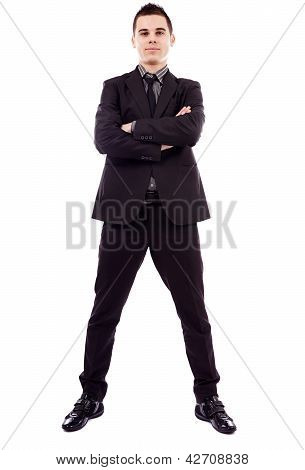 Full Length Of Successful Businessman