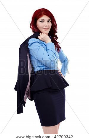 Closeup Of Young Businesswoman