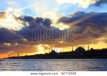 Spring clouds in Istanbul