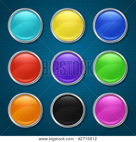 Round patterned icons for the app.