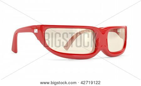 Reading Glasses. 3D Model  Isolated On White