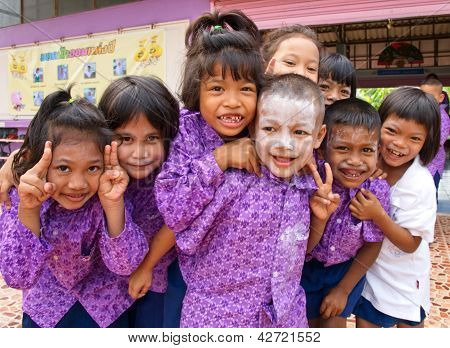 Kindergarten Students In A Muslim Public School In A Rural Area Of Pathumthani Province, Thailand (3
