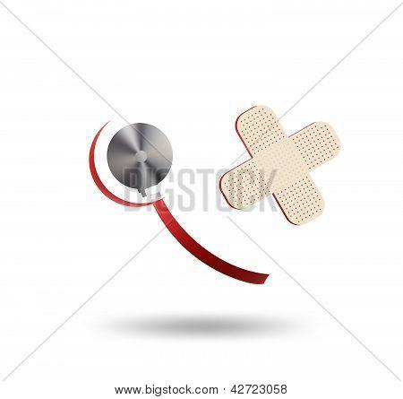 Stethoscope And A Heart Shape