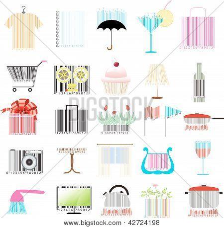 Set Of Stylized Barcodes