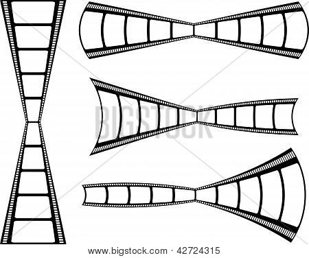 Film Strip Background Collection Isolated On White