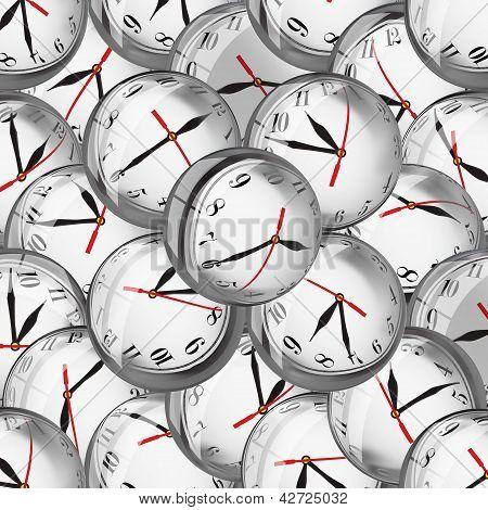 Clocks In Bubbles - Time Concept