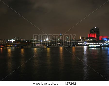 London Skyline From Hungerford Bridge