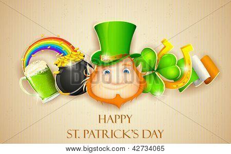 illustration of Saint Patrick's Day background
