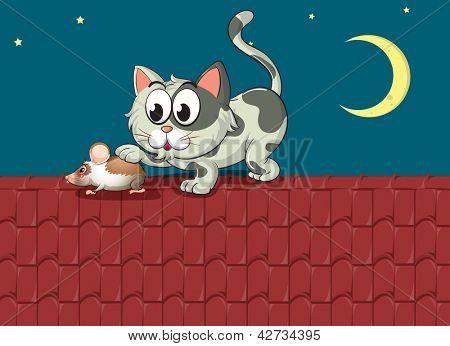 Illustration of a predator and a prey