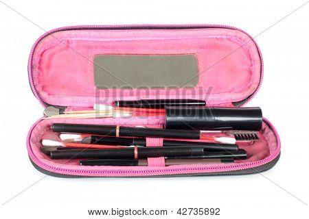 Farbfoto eine Tasche für Kosmetik