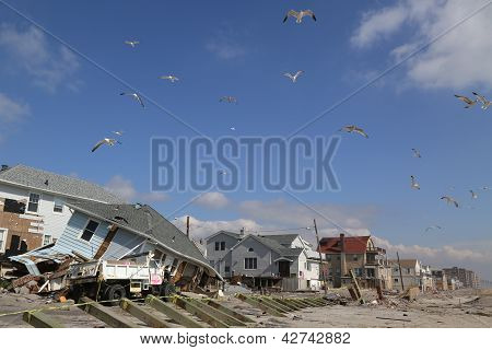 Hurricane Sandy five months after