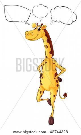 Illustration of the empty callouts and a giraffe on a white background
