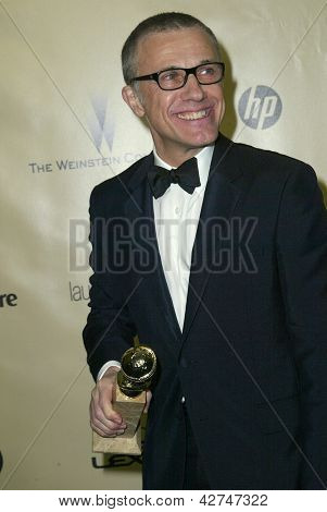 BEVERLY HILLS, CA - JAN. 13: Christoph Waltz arrive at the Weinstein Company's 2013 Golden Globes After Party on Sunday, January 13, 2013 at the Beverly Hilton Hotel in Beverly Hills, CA.