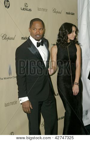 BEVERLY HILLS, CA - JAN. 13: Jamie Foxx and daughter arrive at the Weinstein Company's 2013 Golden Globes After Party on Sunday, January 13, 2013 at the Beverly Hilton Hotel in Beverly Hills, CA.