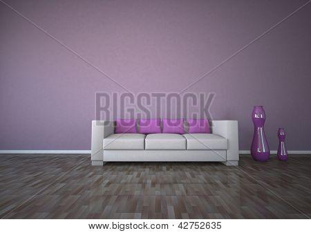 Purple Interior Design Parquet