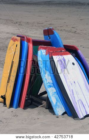 Boards on a Beach
