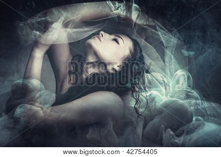 fairy like fantasy woman with veil