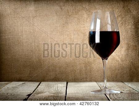 Glass of dessert wine