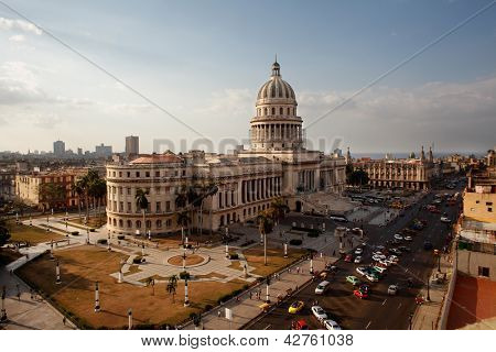 The Famous Havana Capitolio Building Undergoing A Major Renovation February 2013