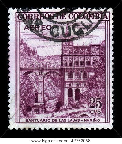 Las Lajas Sanctuary, Minor Basilica Church In The Southern Colombia