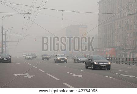 Smog em Prospekt Mira