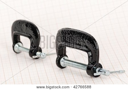 Small Hand Vise C-clamps
