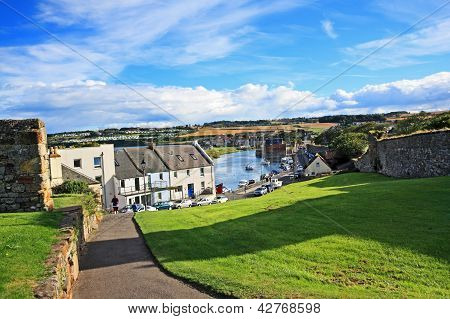 Panorama de St Andrews, Fife, Escocia
