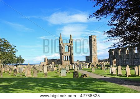 St Andrews Cathedral & St Rule?s Tower, Scotland