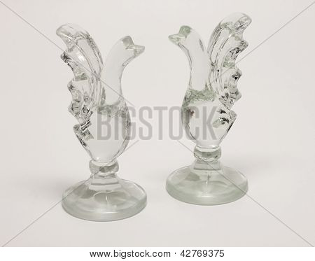Swans glass figurines