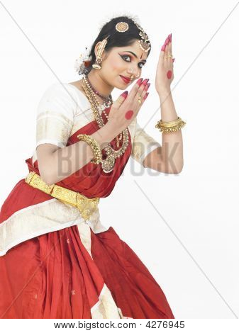 Female Bharathanatyam Dancer From India
