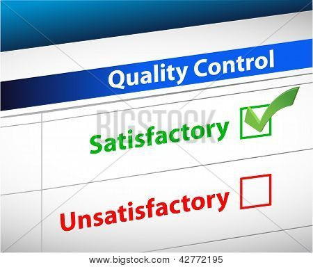 Quality Control Results Business Paperwork