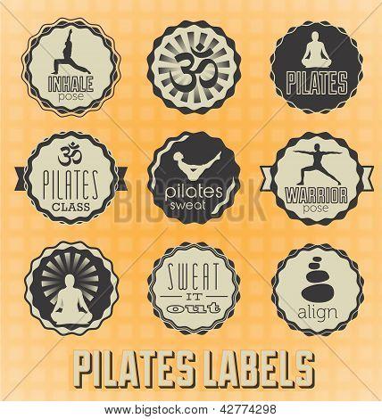 Vector Set: Pilates Labels