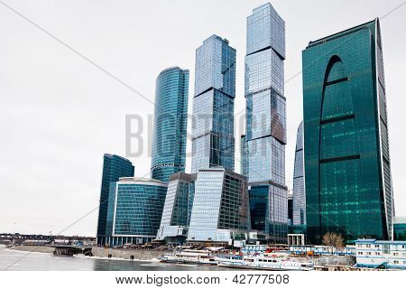 Office Center Glass Skyscrapers