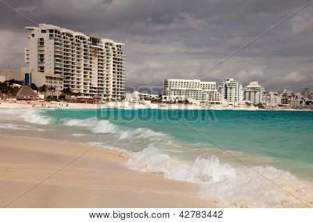 Cancun Beach In Mexico