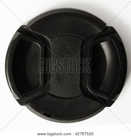 Camera Lens Cap On White Background