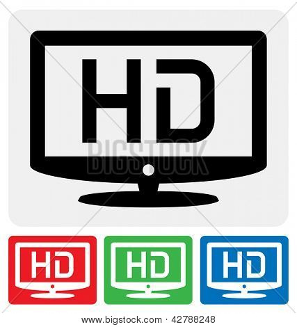 high definition television symbol / HDTV icon