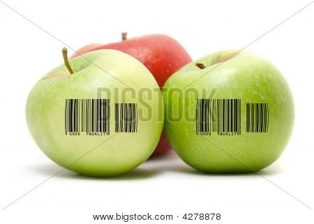 Ripe Apples With Barcode