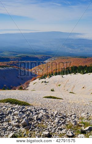 View From The Mount Ventoux, Vaucluse, France