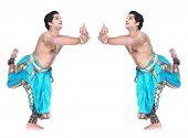 image of bharatanatyam  - male Bharathanatyam dancer of Tamil nadu in South India - JPG